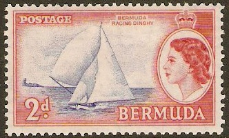 Bermuda 1953 2d Ultramarine and brown-red. SG138.