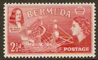 Bermuda 1953 2½d Rose-red. SG139.