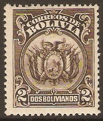 Bolivia 1923 2b Brown. SG164.