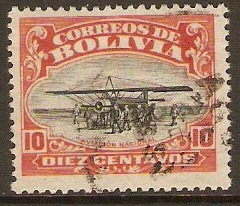 Bolivia 1924 10c Aviation School Series. SG170.