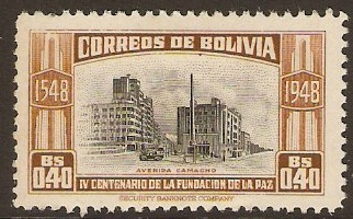 Bolivia 1951 20c La Paz Foundation Series. SG511.
