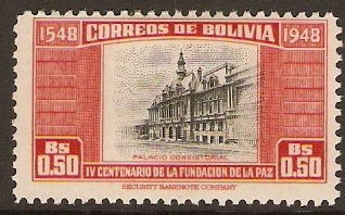Bolivia 1951 50c La Paz Foundation Series. SG514.