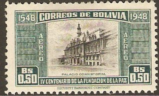 Bolivia 1951 50c La Paz Foundation Series. SG524.