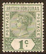 British Honduras 1891 1c Dull green. SG51.