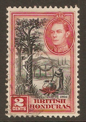 British Honduras 1938 2c Black and scarlet. SG151.