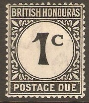 British Honduras 1923 1c Black Postage Due. SGD1.