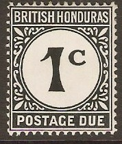British Honduras 1923 1c Black Postage Due. SGD1b.