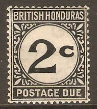 British Honduras 1923 2c Black Postage Due. SGD2.