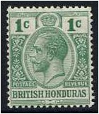 British Honduras 1913 1c. Yellow-Green. SG101a.