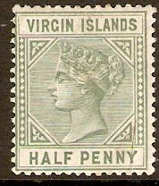 British Virgin Islands 1883 �d Dull green. SG27.
