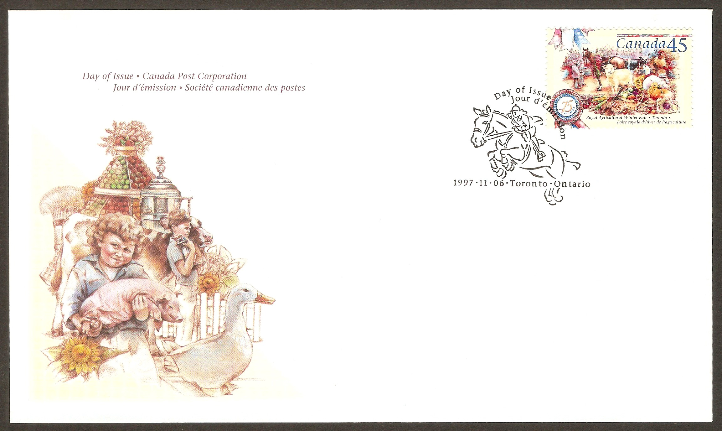 Canada 1997 Royal Agricultural Fair FDC.