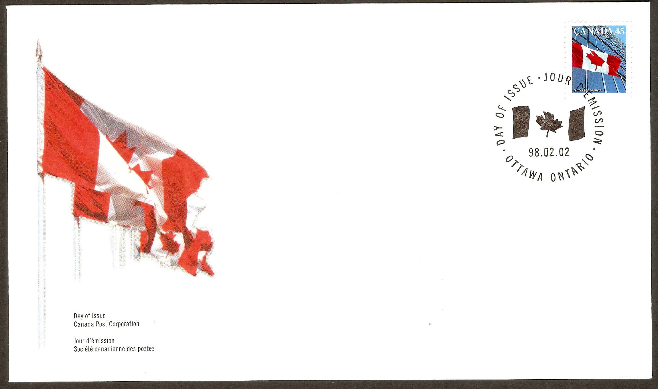 Canada 1998 National Flag FDC.