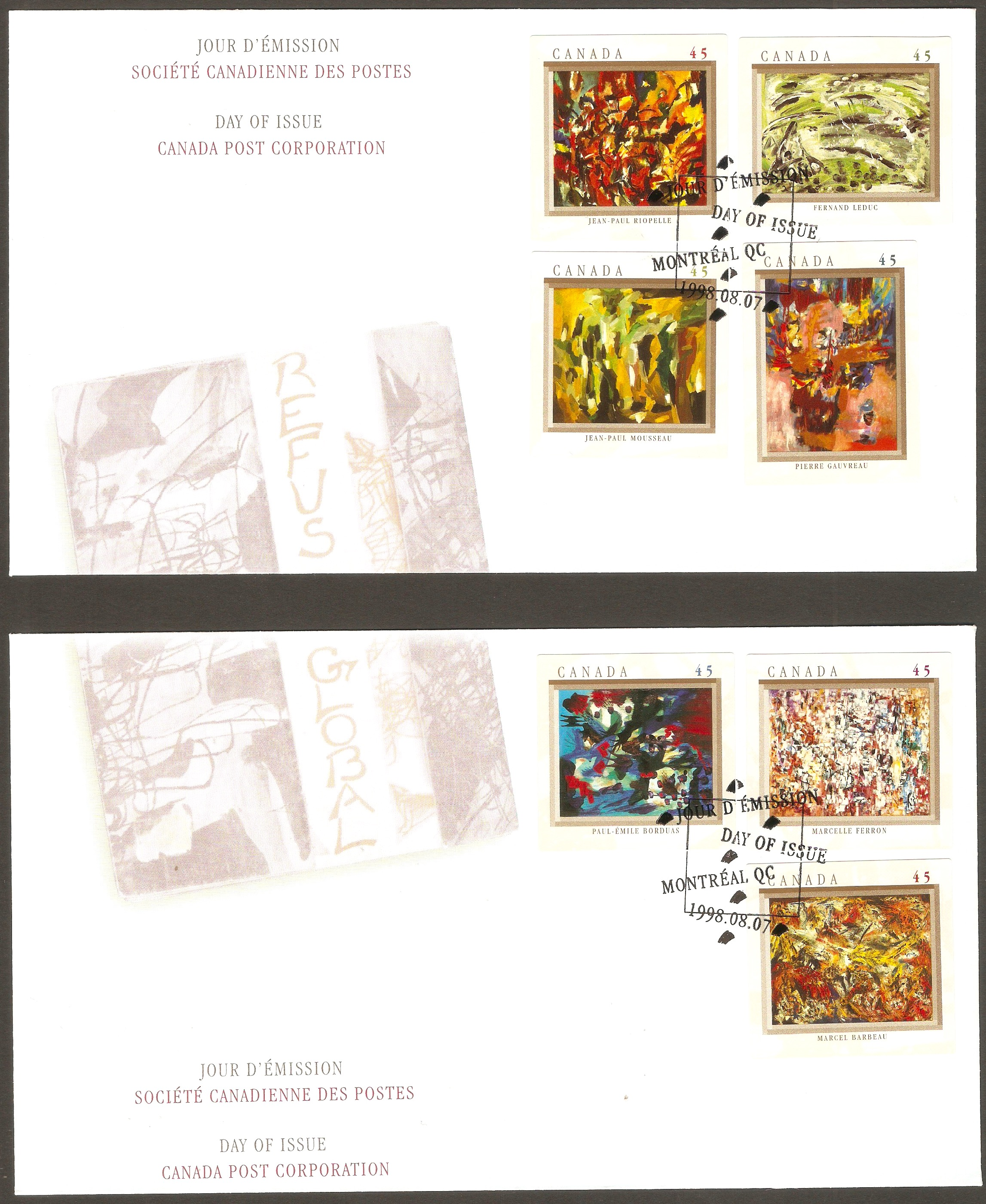 Canada 1998 Artists Anniversary FDC.