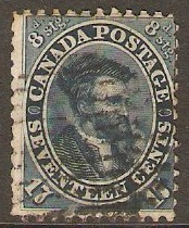 Colony of Canada 1859 17c deep blue. SG42.