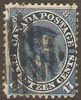 Colony of Canada 1859 17c slate-blue. SG43.