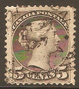 Canada 1889 5c Brownish grey. SG106.