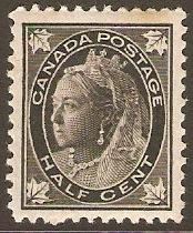 Canada 1897 Half Cent Black SG142