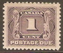 Canada 1906 1c Dull violet Postage Due. SGD1.