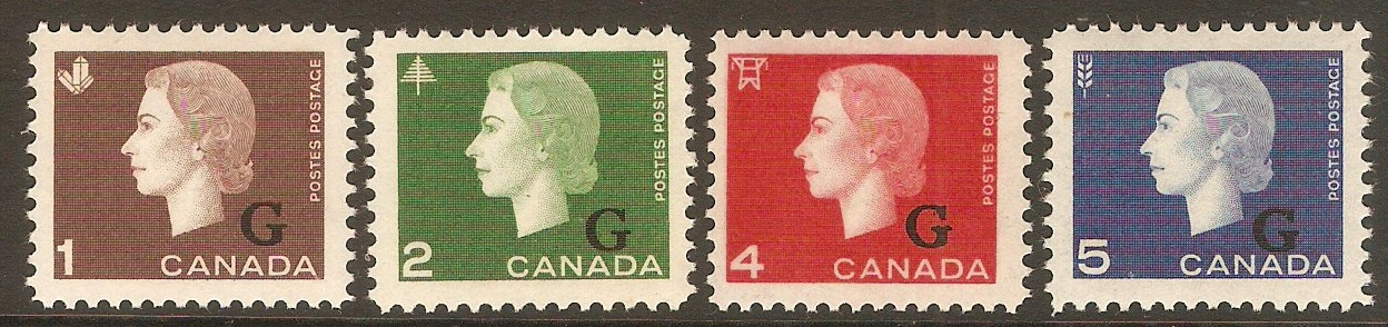 Canada 1963 Official stamps set. SGO208-SGO211.