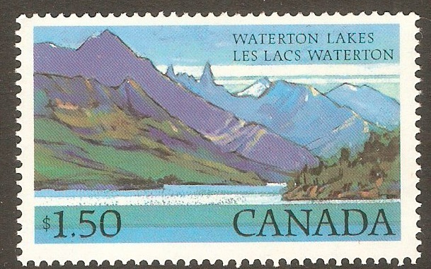 Canada 1977 $1.50 Waterton Lakes. SG884c.