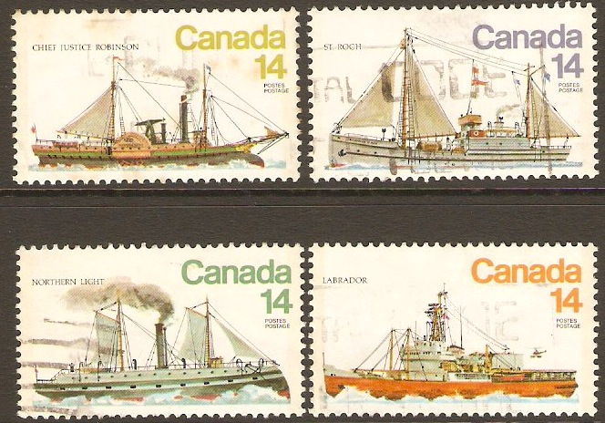 Canada 1978 Ships 4th. Series Set. SG931-SG934.