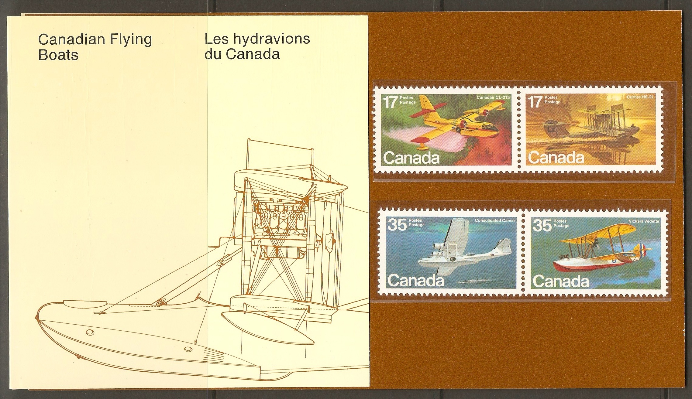 Canada 1979 Aircraft(1st. Series) presentation pack.SG966-SG969.