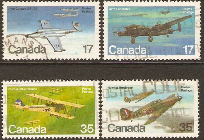 Canada 1980 Aircraft 2nd. Series Set. SG996-SG999.