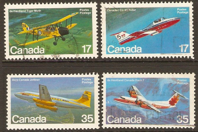 Canada 1981 Aircraft 3rd. Series Set. SG1026-SG1029.