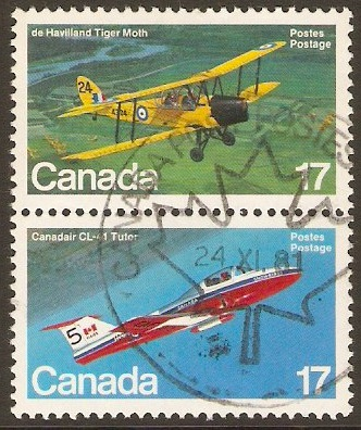 Canada 1981 Aircraft 3rd. Series Pair. SG1026a.