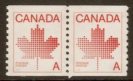 Canada 1981 A(30c) Bright scarlet-Coil stamp. SG1031.