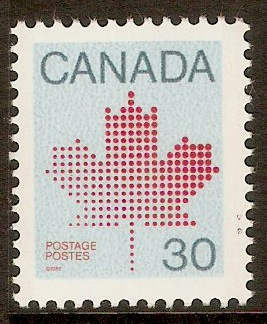 Canada 1982 30c Vermilion, slate blue and azure. SG1032.