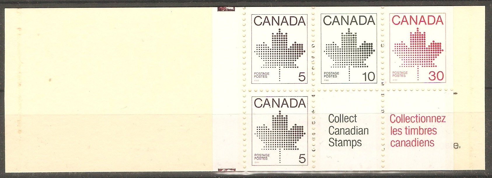 Canada 1982 Stamp booklet. SG1033a.