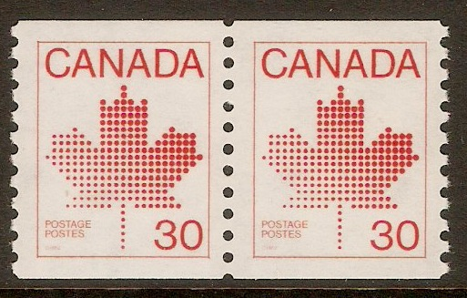 Canada 1982 30c Bright scarlet-Coil stamp. SG1031.