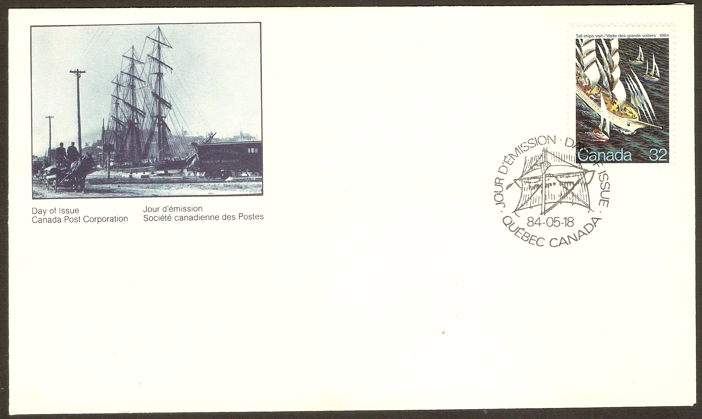 Canada 1984 Tall Ships Visit FDC.