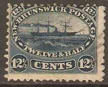 New Brunswick 1860 12+half cent indigo. SG18.