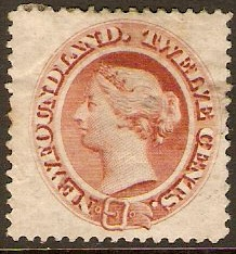 Newfoundland 1865 12c red-brown. SG28.