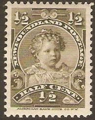 Newfoundland 1897 Half Cent Olive SG83