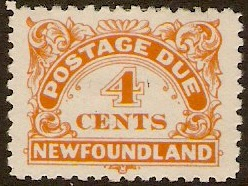Newfoundland 1939 4c orange. SGD4.