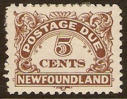 Newfoundland 1939 5c brown. SGD5.
