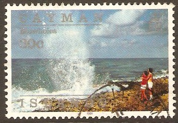 Cayman Islands 1991 30c Island Scenes Series - Blowholes. SG728.