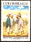 Colombia 1976 Purace Indians Stamp. SG1401.