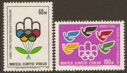 Turkish Cypriot Posts 1976 Olympic Games Set. SG34-SG35.