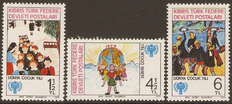Turkish Cypriot Posts 1979 Int. Year of the Child Set. SG85-SG87
