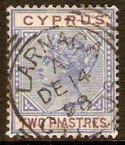 Cyprus 1894 2pi Blue and purple. SG43.