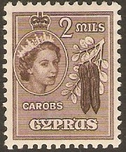 Cyprus 1955 2m Blackish brown. SG173.