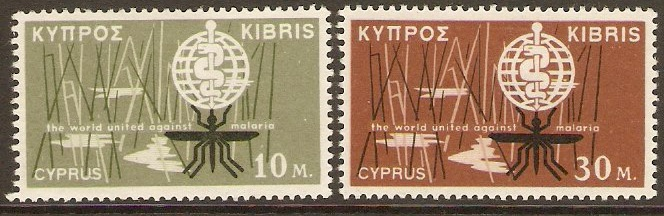 Cyprus 1962 Malaria Eradication Set. SG209-SG210.