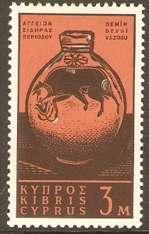 Cyprus 1962 3m Deep brown and orange-brown. SG211.