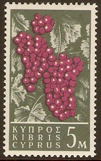 Cyprus 1962 5m Purple and grey-green. SG212.