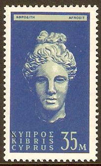 Cyprus 1962 35m Light green and blue. SG217.