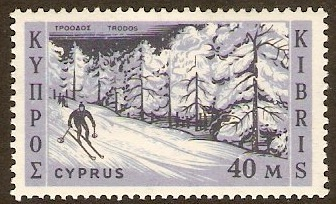 Cyprus 1962 40m Black and violet blue. SG218.